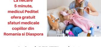 In 2019, medicii PEDITEL 1791 au oferit asistenta medicala pediatrica, gratuit, non  stop prin telefon pentru 65.511 copii din Romania si Diaspora.