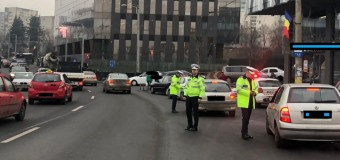 6 permise de conducere reținute, 23 de amenzi pentru pietoni în două ore de acțiune a polițiștilor în trafic.