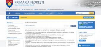 UPDATE: Primăria Floreşti instalează un nou server pentru a încasa mai bine banii cetăţenilor, dar site-ul de informare al instituţiei e varză