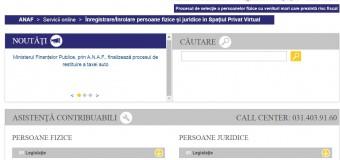 Servicii fiscale electronice la dispoziția contribuabililor- Serviciul Spaţiul Privat Virtual