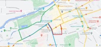 Trasee alternative la circulația prin Piața Lucian Blaga și str. Napoca.
