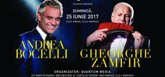 Andrea Bocelli și Gheorghe Zamfir: Duetul Zeilor la Cluj!