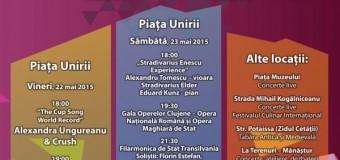 Mai sunt 2 zile până încep Zilele Clujului. Vezi programul pentru Vineri, 22 mai 2015