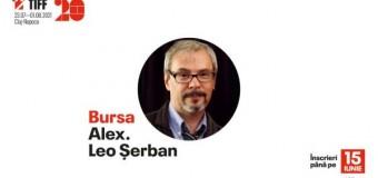 Se deschide perioada de aplicații pentru Bursa Alex. Leo Șerban.