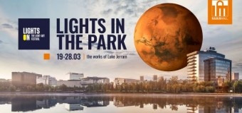 Lights in the Park – Luna și Planeta Marte, suspendate în parcurile IULIUS.
