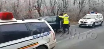 Tănăr urmărit național, depistat de polițiști în Florești.