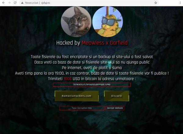 site-ul Consiliului Județean Cluj atacat