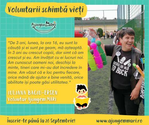 voluntar, iuliana baciu, cluj24h, copii